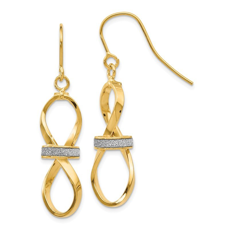 Leslie's Leslie's 14K Polished Glitter Infused Dangle Earrings