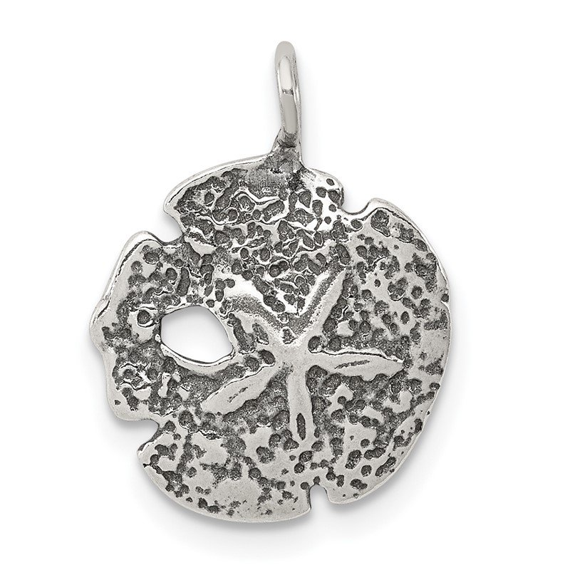Quality Gold Sterling Silver Antiqued Sand Dollar Charm