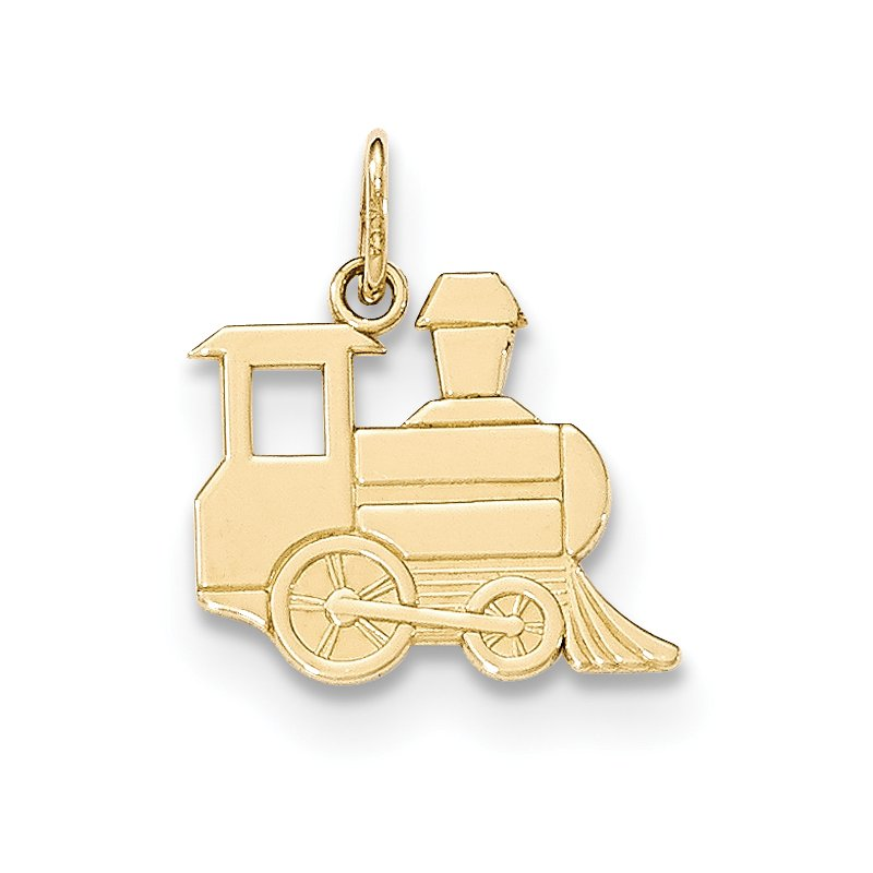 Quality Gold 14k Gold Polished Toy Train Pendant