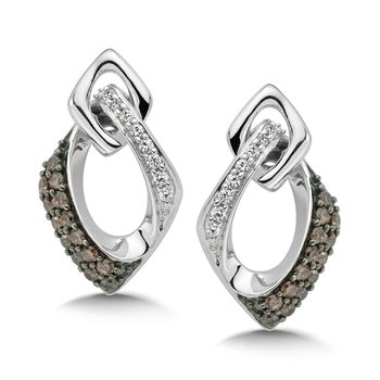 Pave set Slim Diamond Oval Hoops in 14k White Gold (1/4 ct. tw.) GH/SI1-SI2