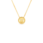 Roberto Coin 18Kt Gold Smiley Emoji Pendant With Diamonds