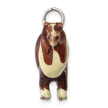 Sterling Silver Enameled Collie Charm