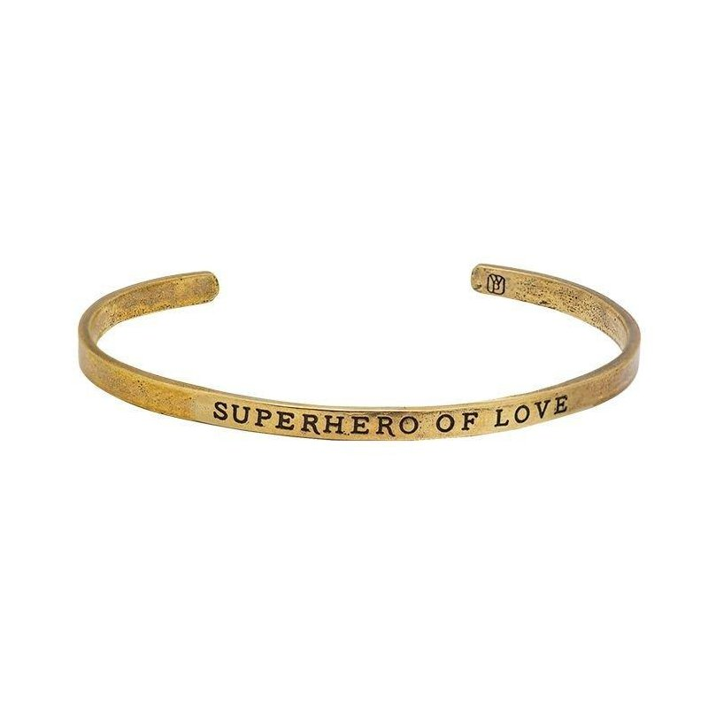 Waxing Poetic Write On Cuff Brass - Superhero Of Love