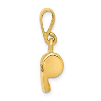 14K 3D Sports Whistle Pendant