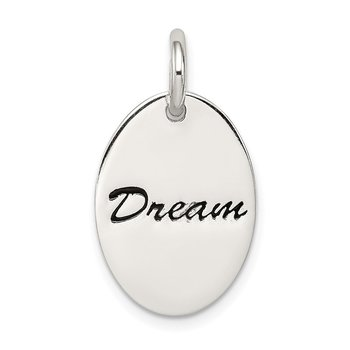 Sterling Silver Polished Enamel Dream Pendant