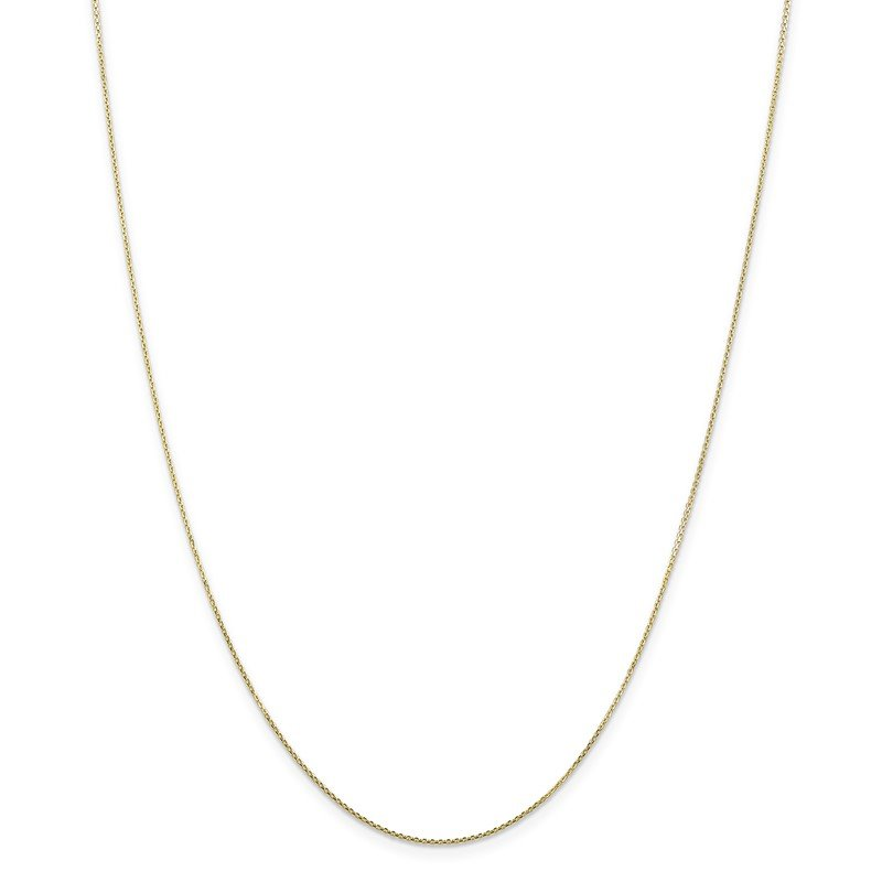 Quality Gold 10k .8mm D/C Cable with Lobster Clasp Chain