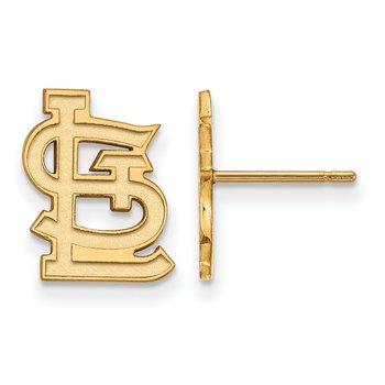 Gold St. Louis Cardinals MLB Earrings