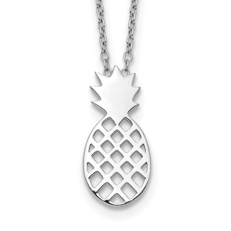 Quality Gold Sterling Silver Pineapple Necklace