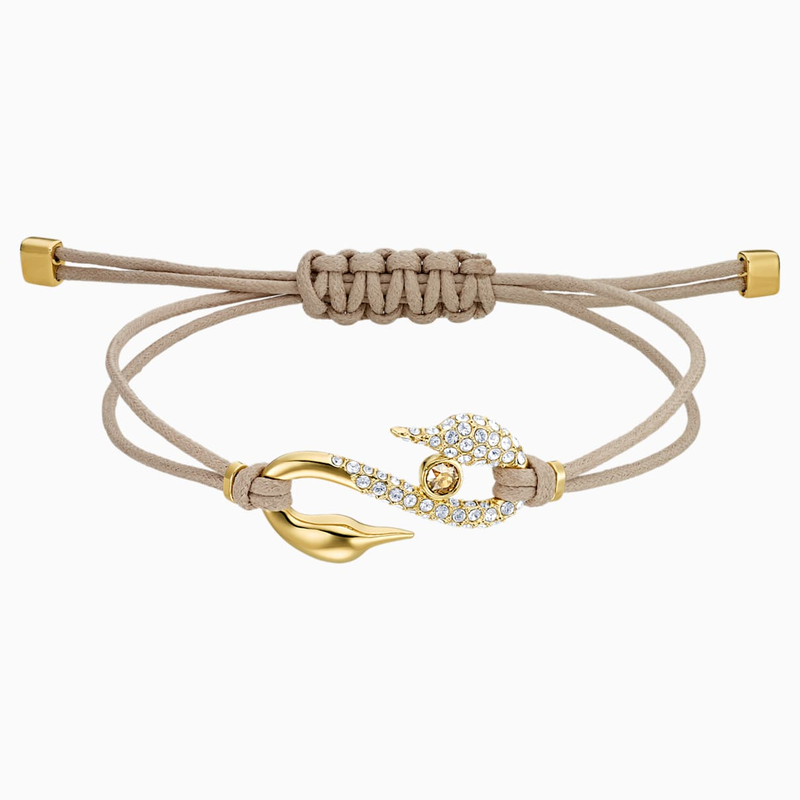 Swarovski Swarovski Power Collection Hook Bracelet, Beige, Gold-tone plated