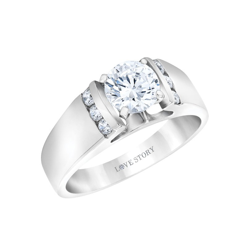 Wide Band Engagement Ring by Love Story