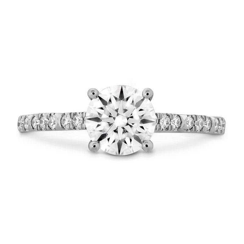 Hearts on Fire 0.18 ctw. Cali Chic Diamond Engagement Ring