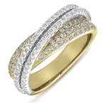S. Kashi  & Sons Yellow & White Gold Fashion Diamond Ring
