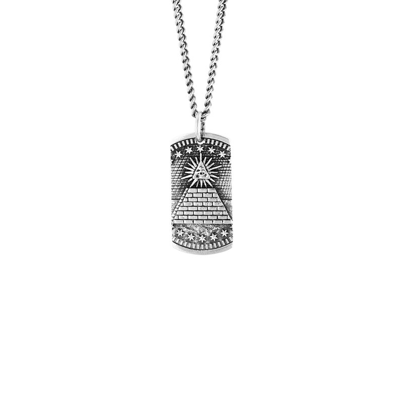 King Baby Eye Of Providence Dog Tag Pendant