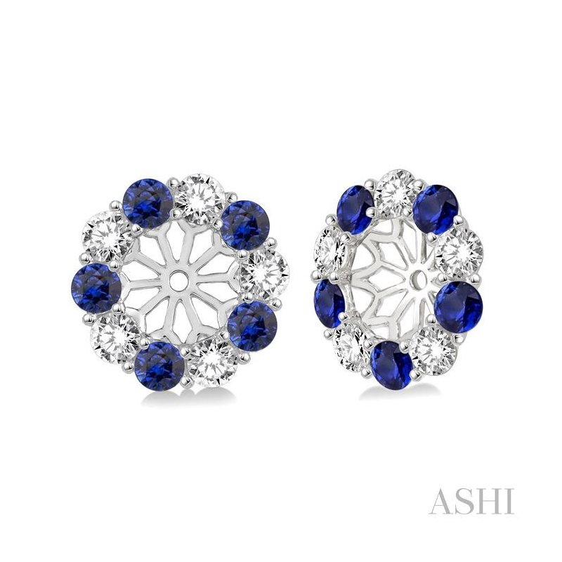 ASHI diamond earrings jacket