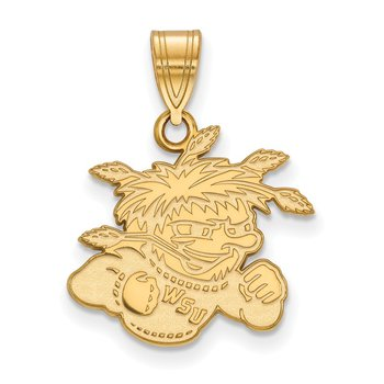 Gold-Plated Sterling Silver Wichita State University NCAA Pendant