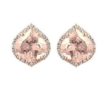 Champagne Sapphire Earrings-CE3830RCS