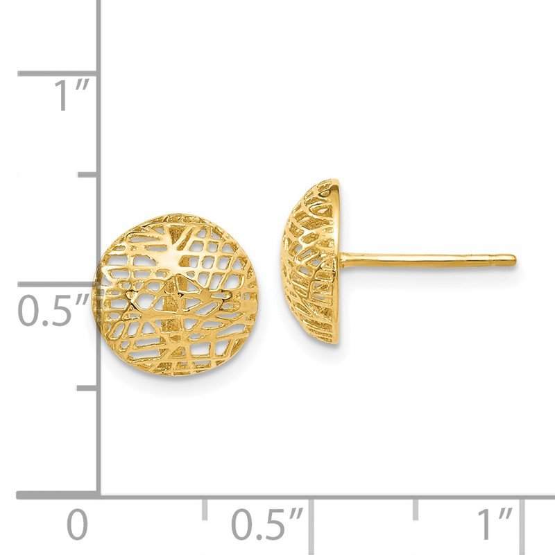 Leslie's Leslie's 14K Textured Post Earrings