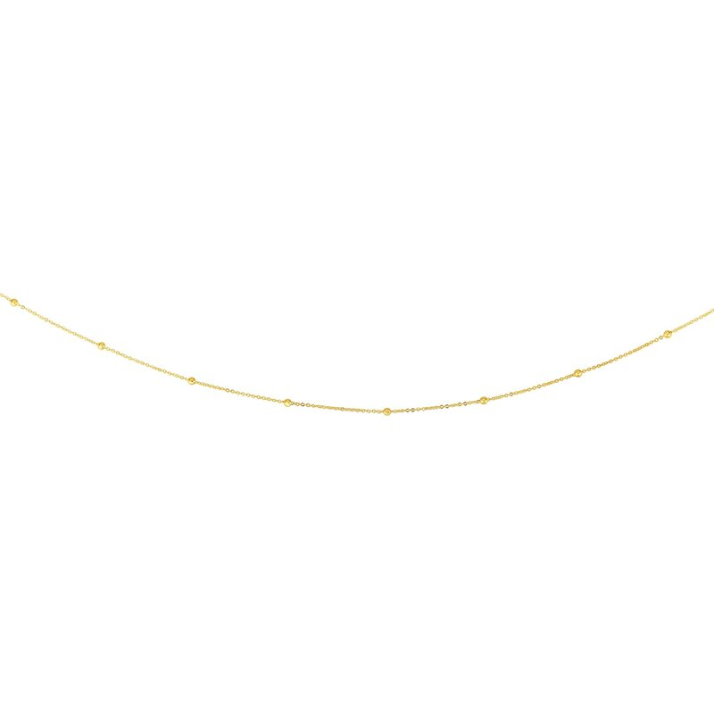 Royal Chain 14K Gold 1.75mm Polished Bead Saturn Chain