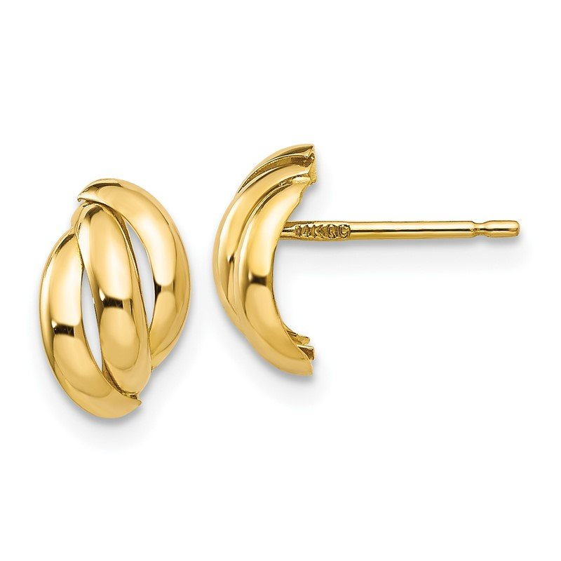 Quality Gold 14k Polished Fancy Post Earrings