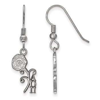 Sterling Silver Alpha Omicron Pi Greek Life Earrings