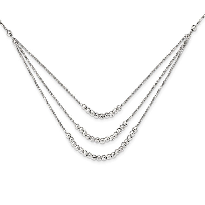 Lester Martin Online Collection Sterling Silver Beaded Multi Layer Necklace