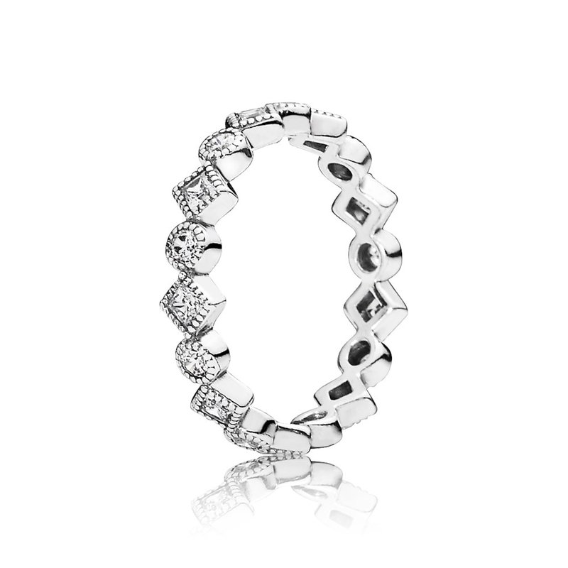 7634b1eb7 David Arlen Jewelers: PANDORA Alluring Brilliant Princess Stackable ...