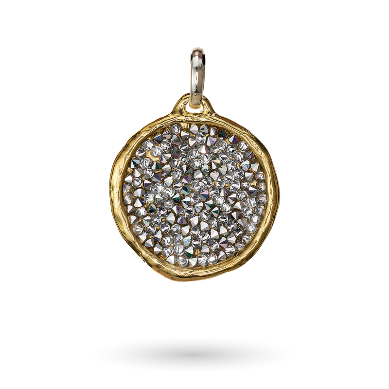 Waxing Poetic Kristal Halo Pendant - Brass