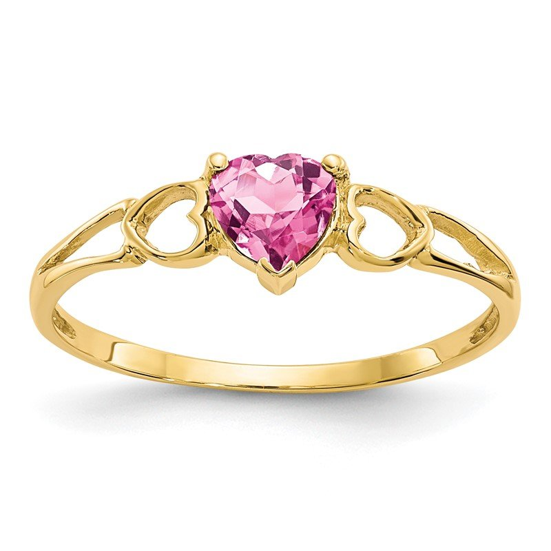 Quality Gold 14k Pink Tourmaline Birthstone Ring