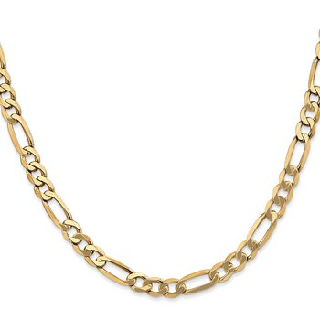 Leslies 14k 5.25mm Flat Figaro Chain