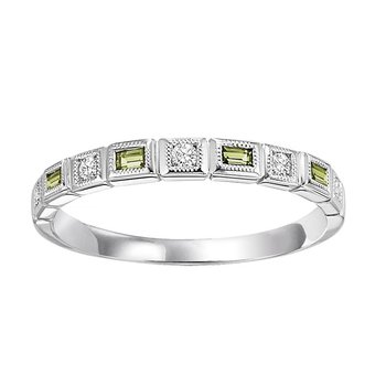 14K Peridot & Diamond Mixable Ring