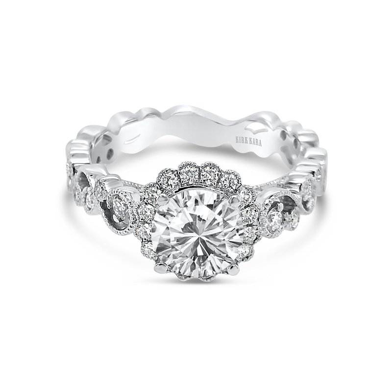 Lace Halo Diamond Engagement Ring