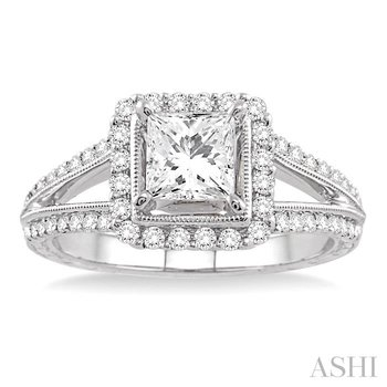 semi-mount diamond engagement ring