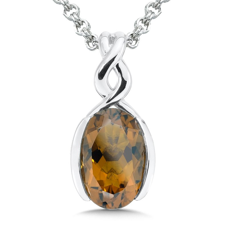 Colore Sg Sterling Silver Honey Citrine Pendant