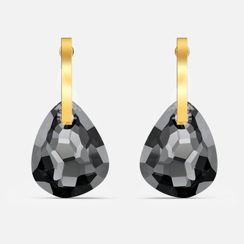 T Bar Pierced Earrings, Gray, Gold-tone plated