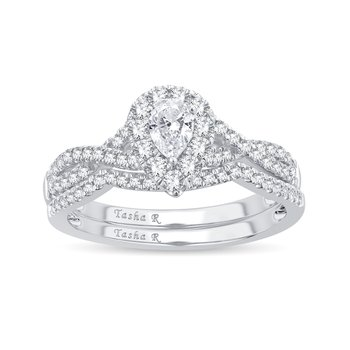 14K 0.69Ct Diamond Bridal Ring