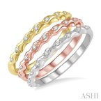 ASHI stackable diamond ring set