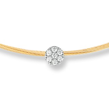 Yellow Cable Disco Choker Necklace with 18kt White Gold & Diamonds