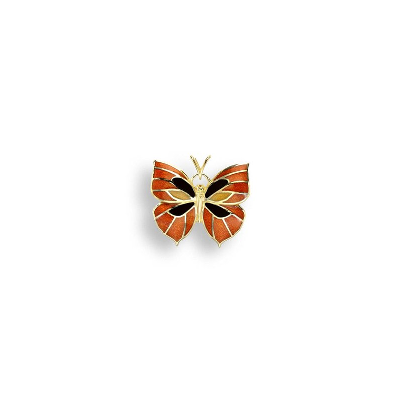 Nicole Barr Designs Orange Butterfly Pendant.18K