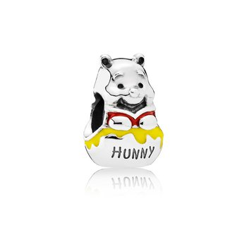 Disney, Honey Pot Pooh Charm, Mixed Enamel