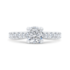 Carizza 14K White Gold Diamond Engagement Ring (Semi-Mount)