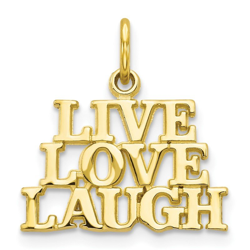 Quality Gold 10K LIVE LOVE LAUGH Charm