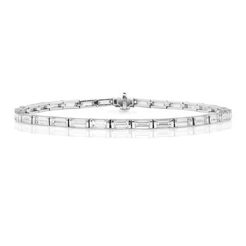 Diamond Bracelet Baguette Set