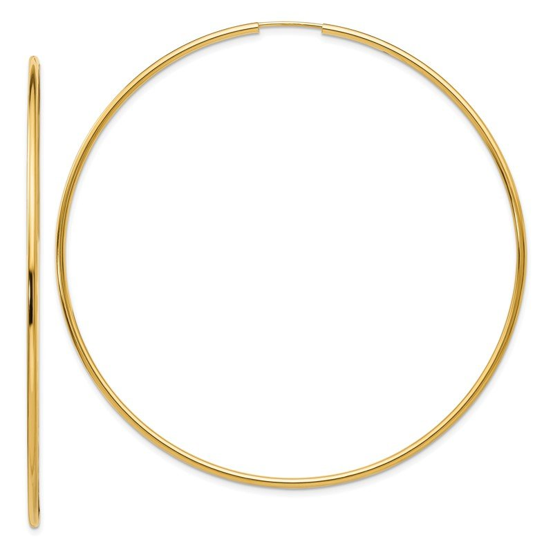 Quality Gold 14K Endless Hoop Earrings