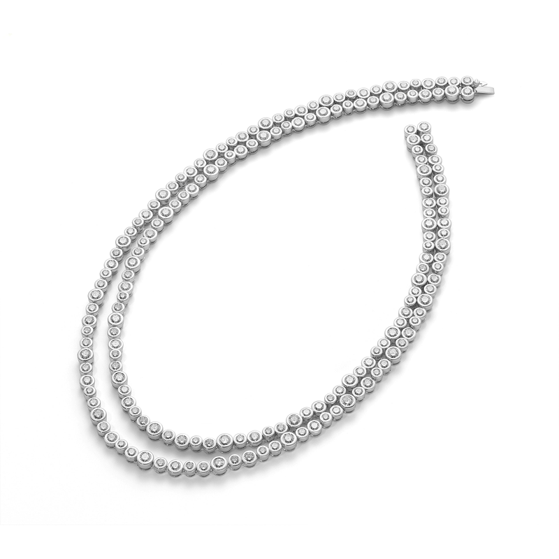 Roberto Coin Cento Frizzante Two Row Necklace