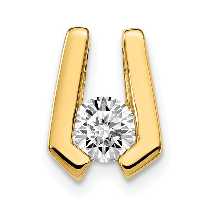 Quality Gold 14k AA 4.5mm Diamond Slide