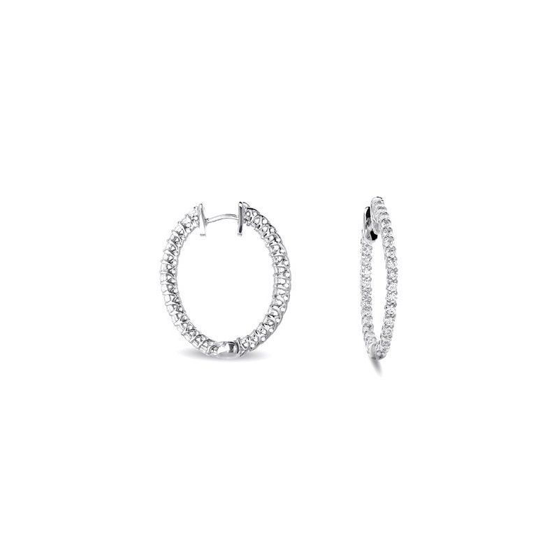 S. Kashi  & Sons Oval Hoop Earring 26mm X 21mm