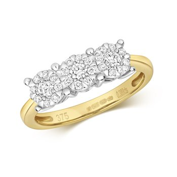 Diamond Brilliant Range 3 Stone