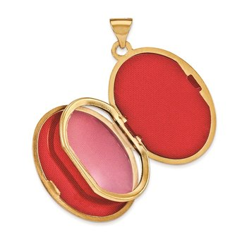 14k Yellow Gold Scroll Heart Design Oval Locket