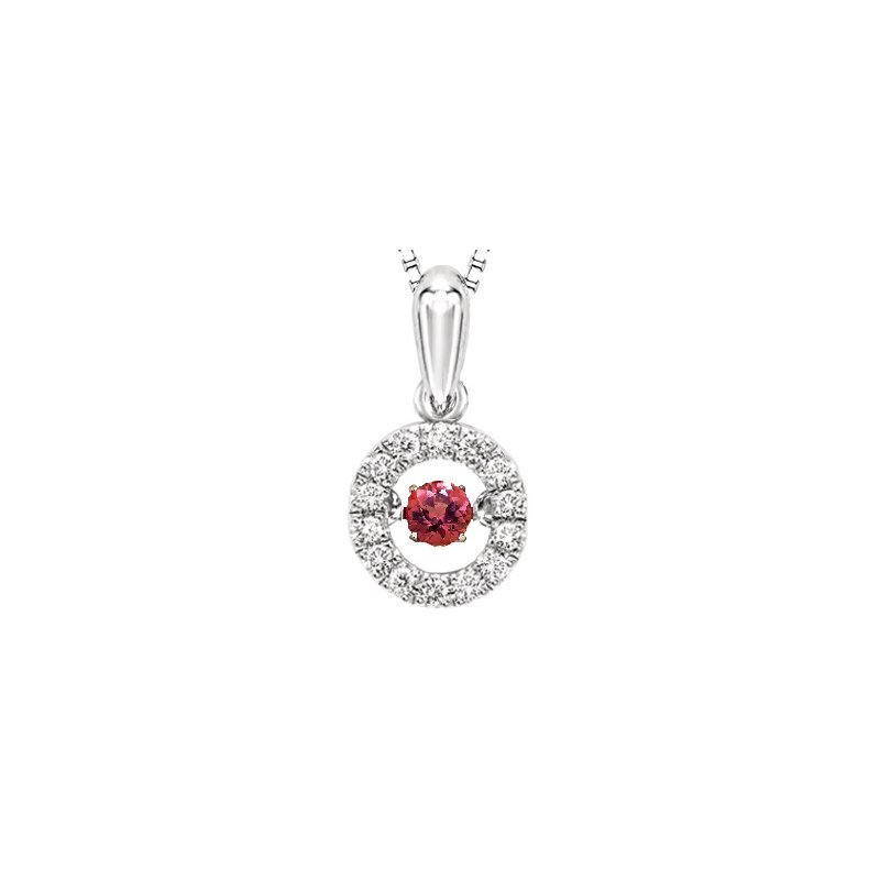 Rhythm of Love 10K Pink Sapphire & Diamond Rhythm Of Love Pendant