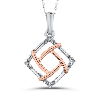 0.05 ct Round Diamond Fashion Pendant with Chain